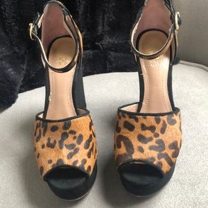 Vince Camuto Cheetah Wedges